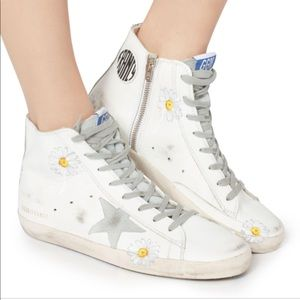 Golden Goose Francy Painted Daisy Sneakers